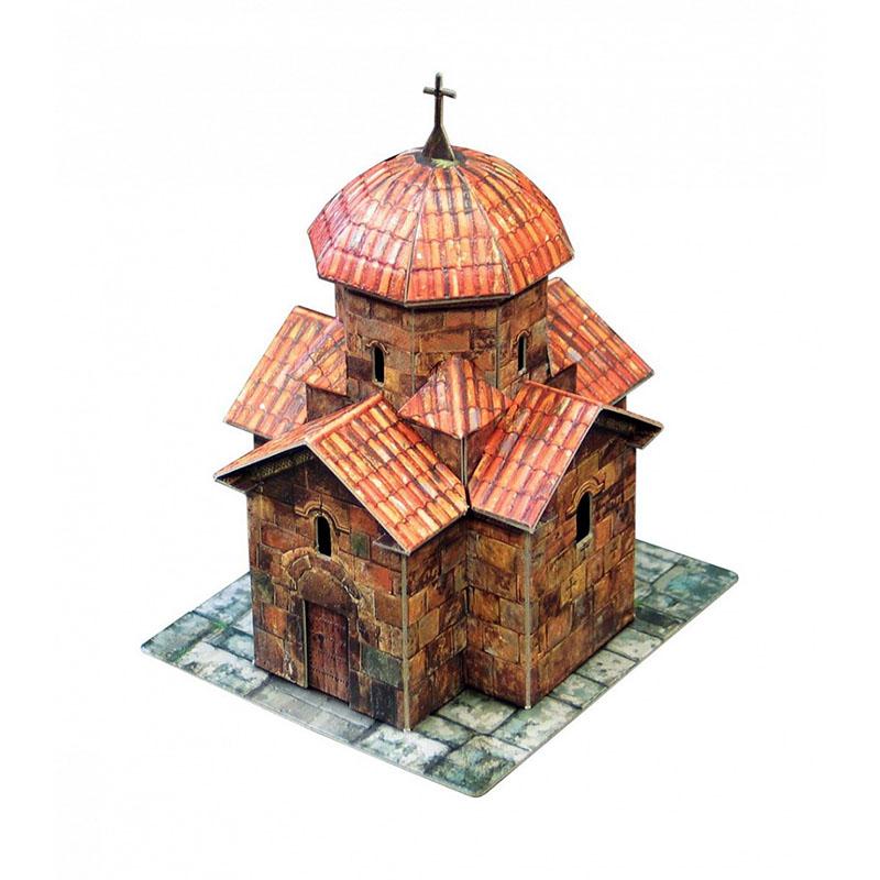 Церковь из бумаги поэтапно