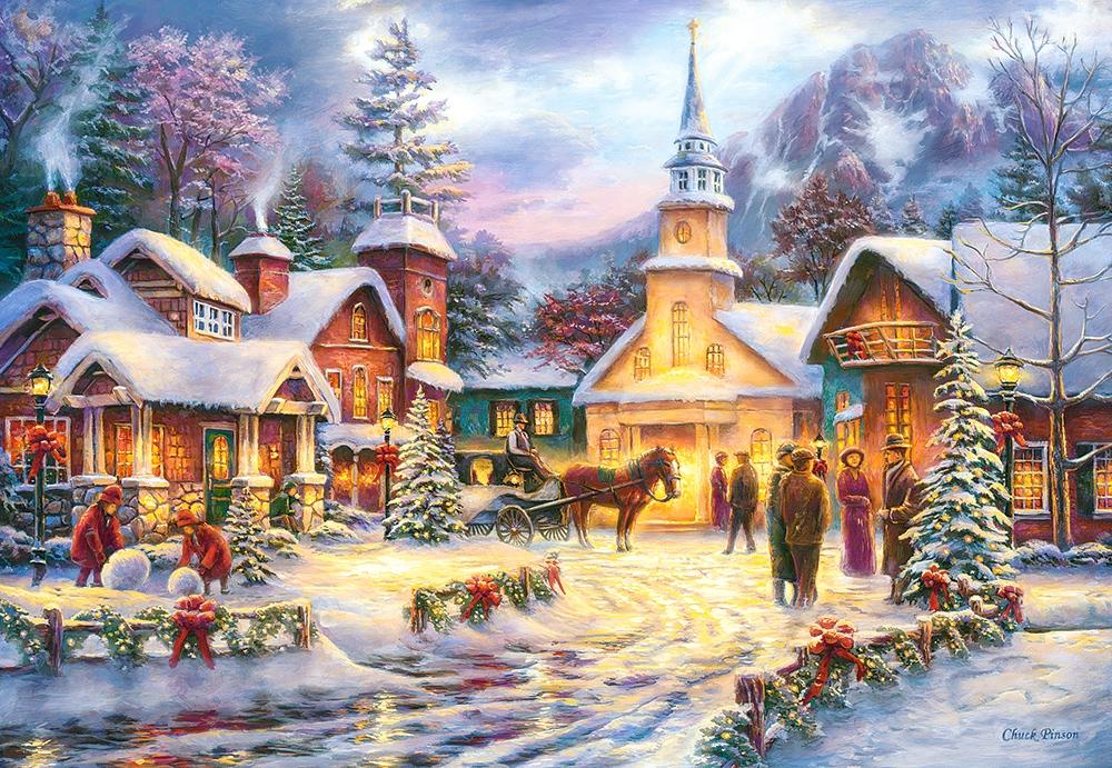 Картинки красивые новогодние пейзажи