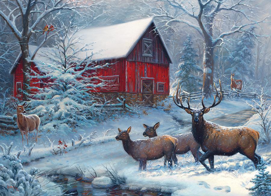 постер с зимним пейзажем сегодняшний день появилось