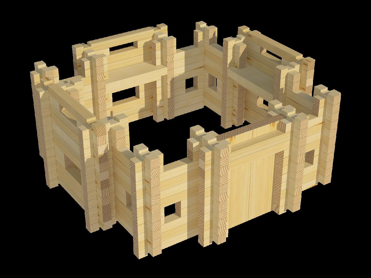 Конструктор деревянный Лесовичок «Крепость №5»