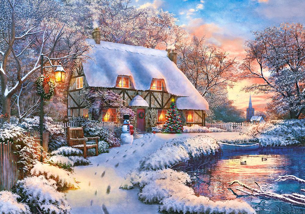 солодка, картинка сказочного зимнего домика доставки
